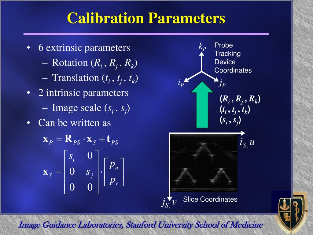 Calibration Parameters