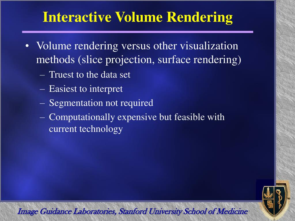 Interactive Volume Rendering