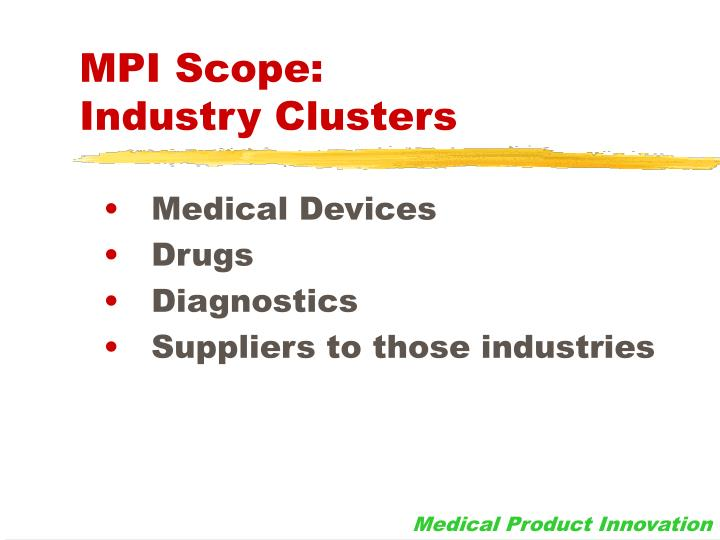 Mpi scope industry clusters