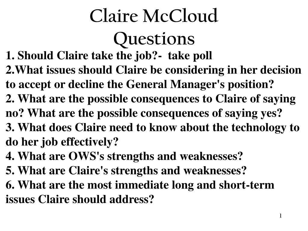 Claire McCloud