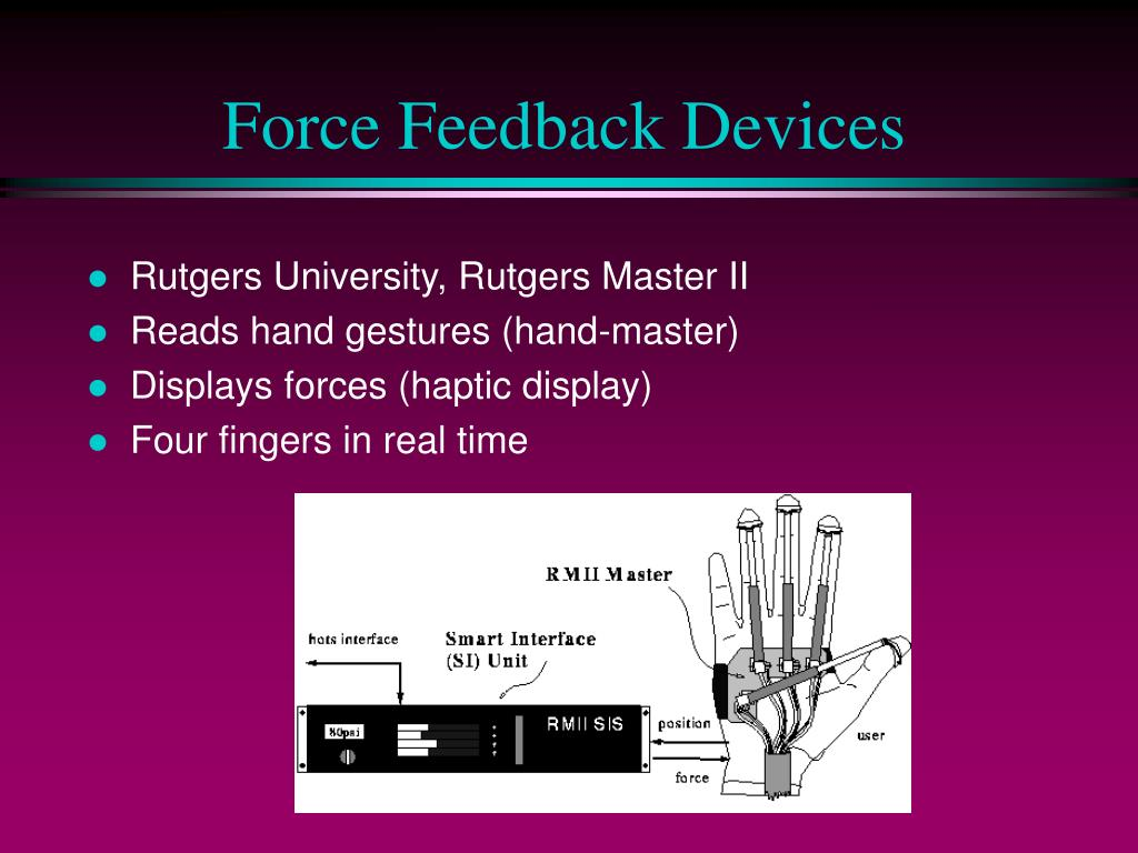 Force Feedback Devices