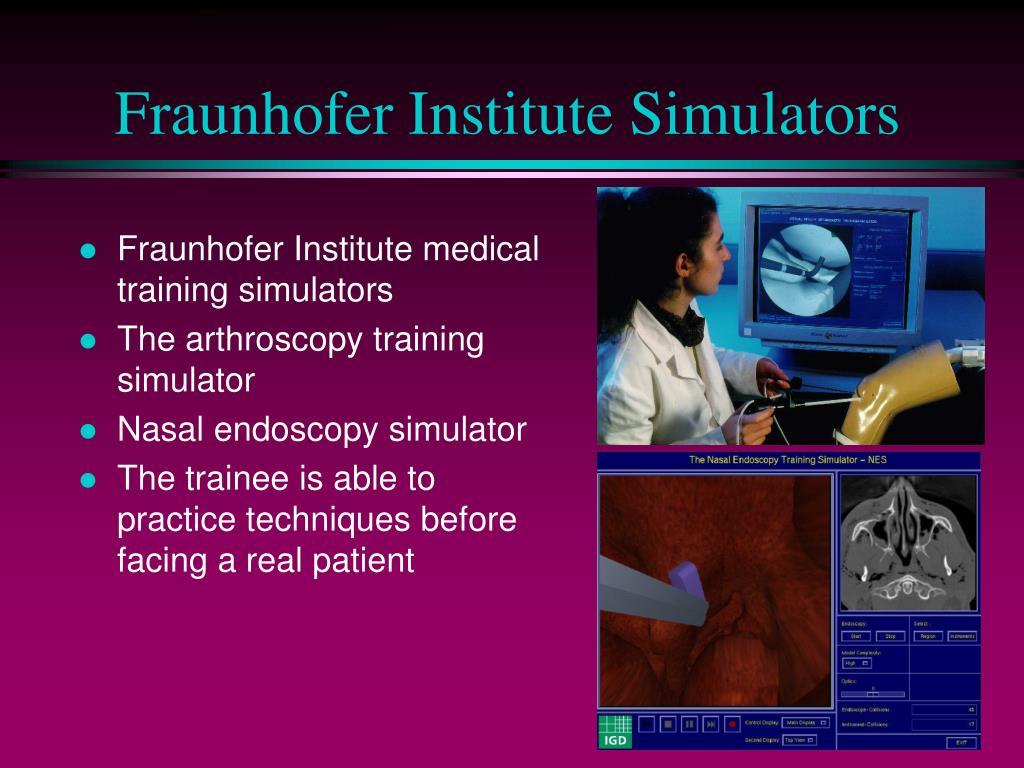 Fraunhofer Institute Simulators
