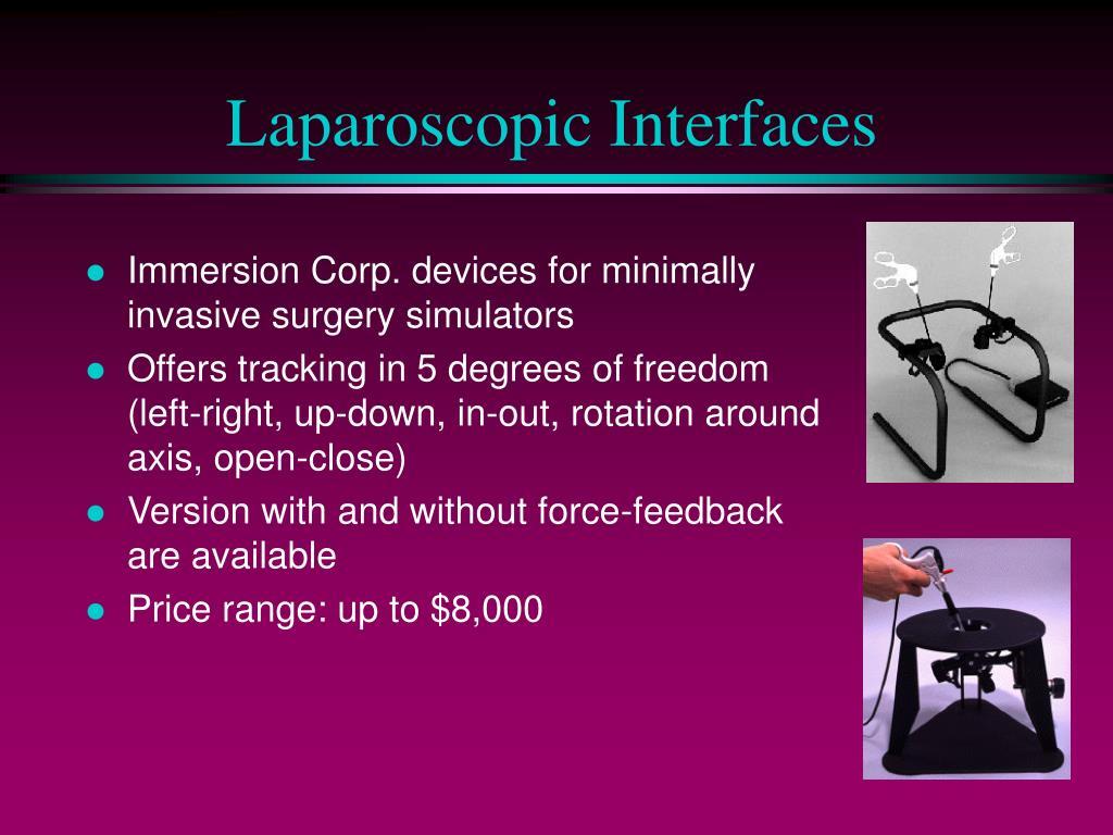 Laparoscopic Interfaces