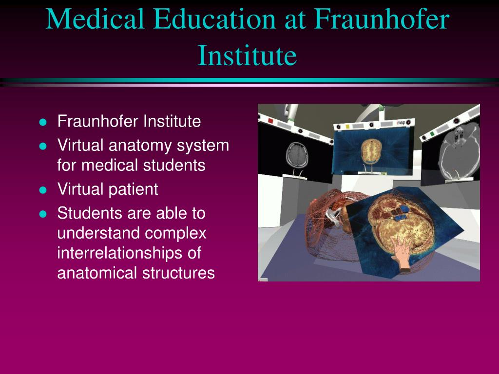 Medical Education at Fraunhofer Institute
