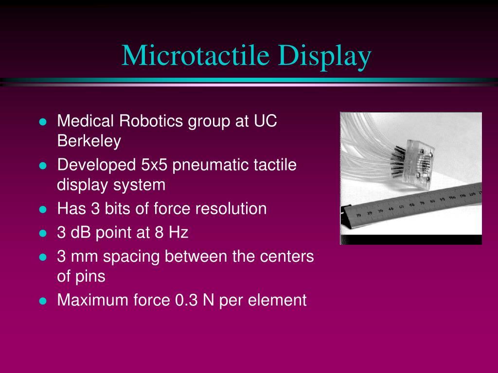 Microtactile Display