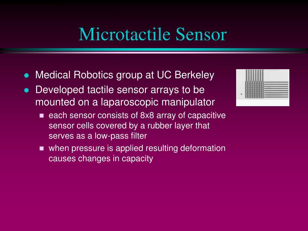 Microtactile Sensor