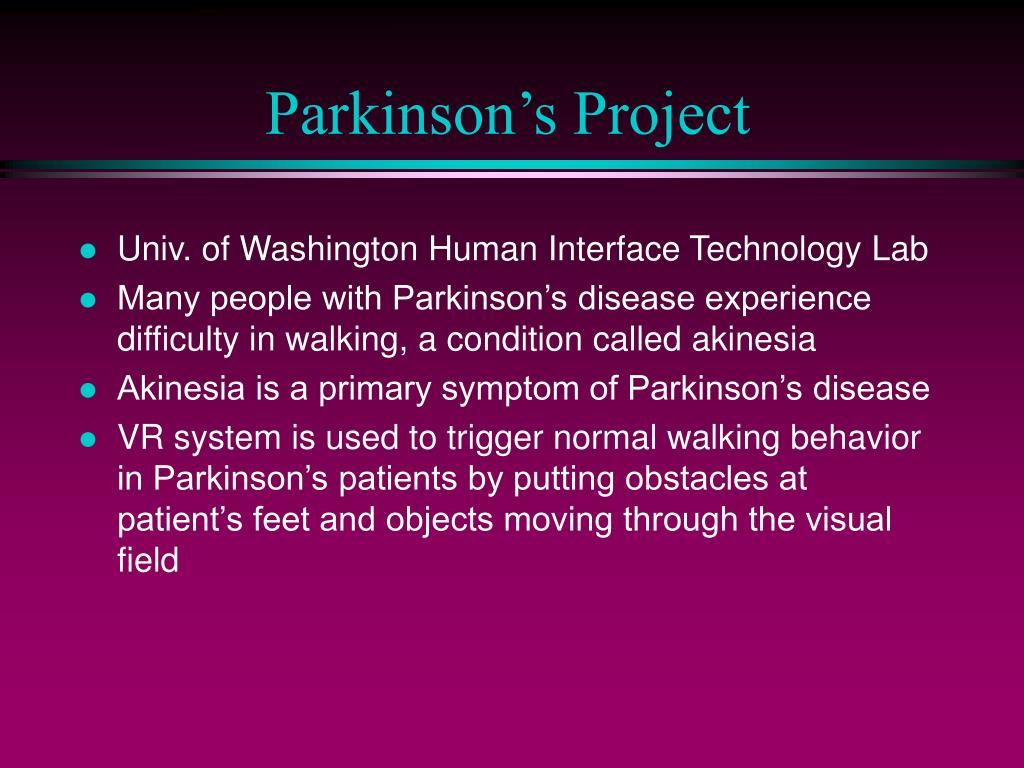 Parkinson's Project