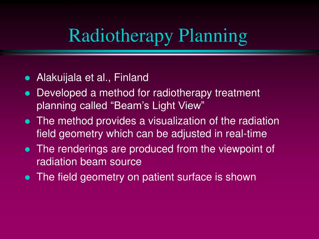 Radiotherapy Planning