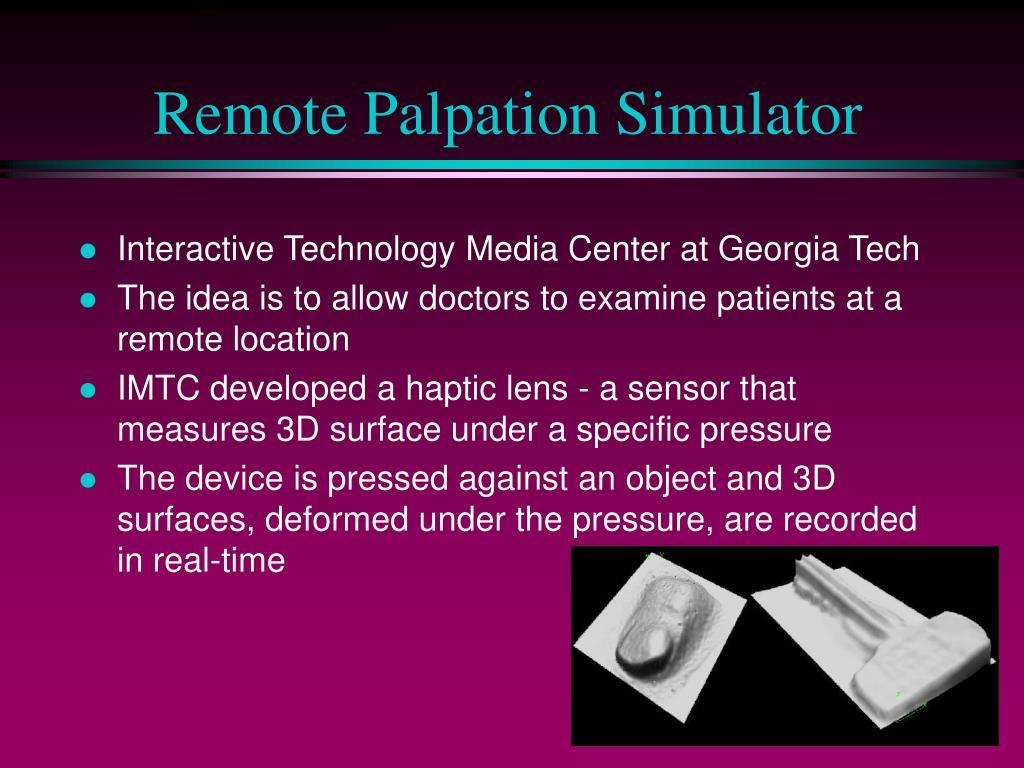 Remote Palpation Simulator