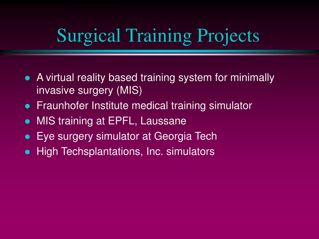 Surgical Training Projects