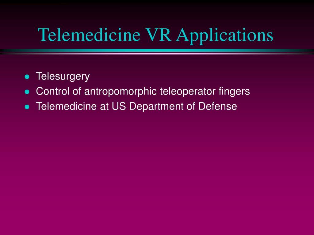 Telemedicine VR Applications