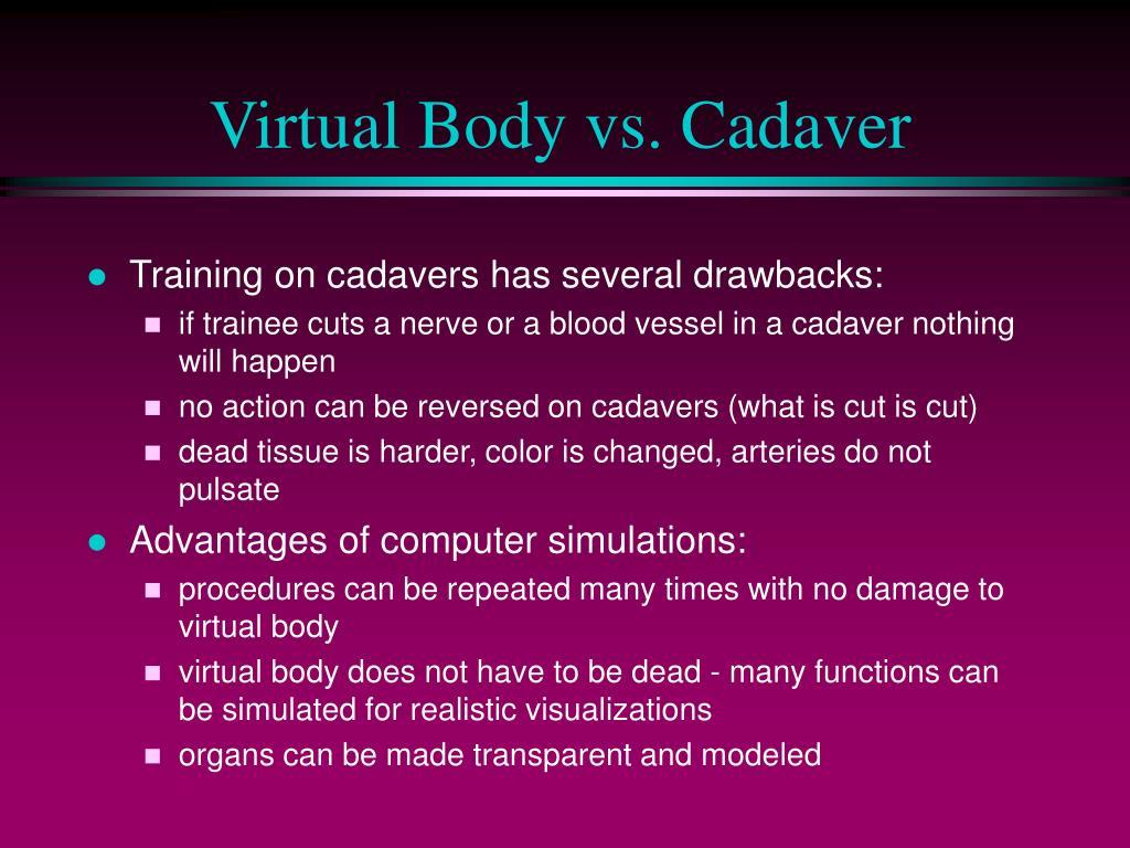 Virtual Body vs. Cadaver