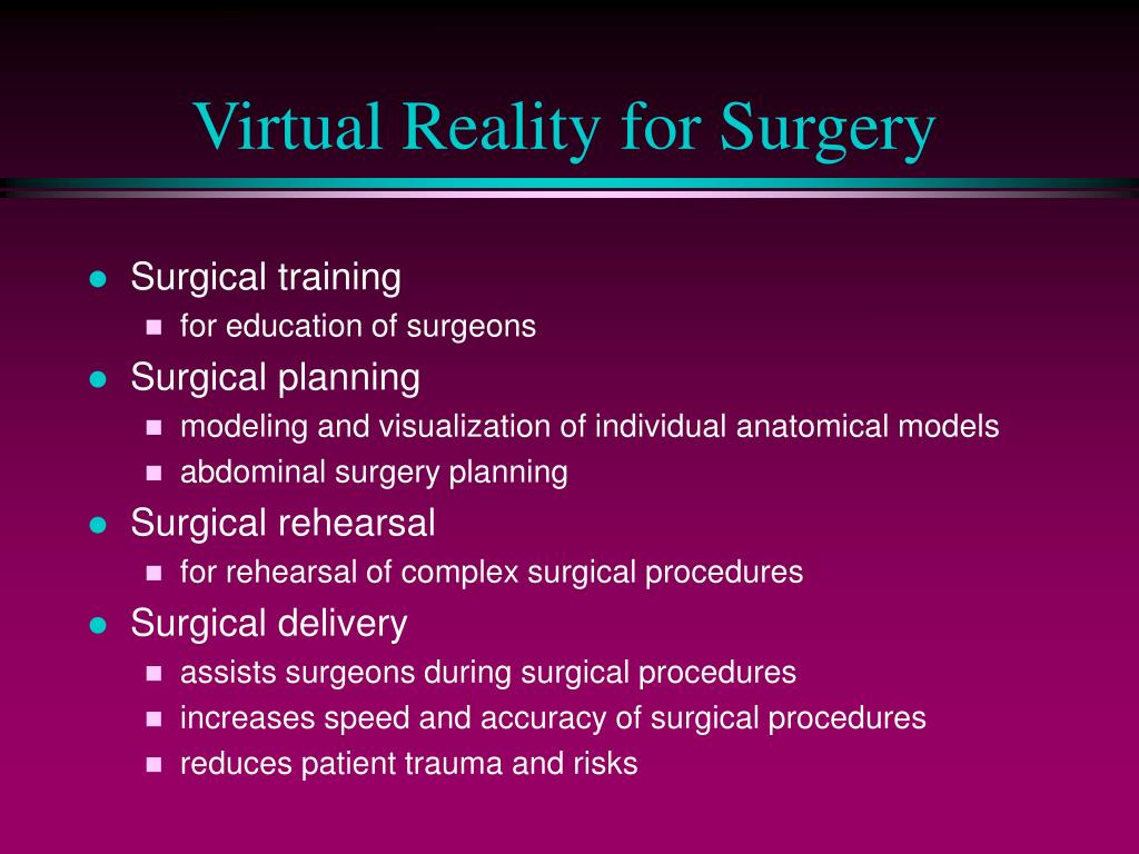 Virtual Reality for Surgery