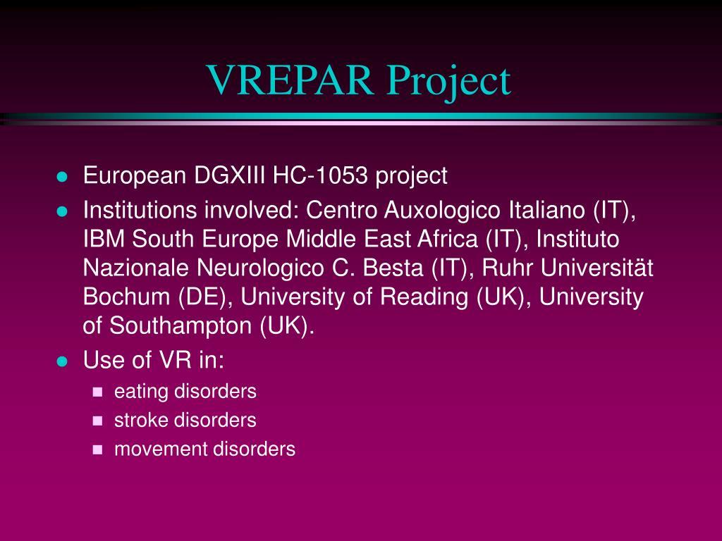 VREPAR Project