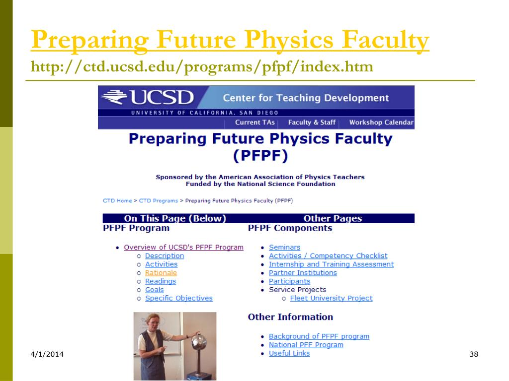 Preparing Future Physics Faculty