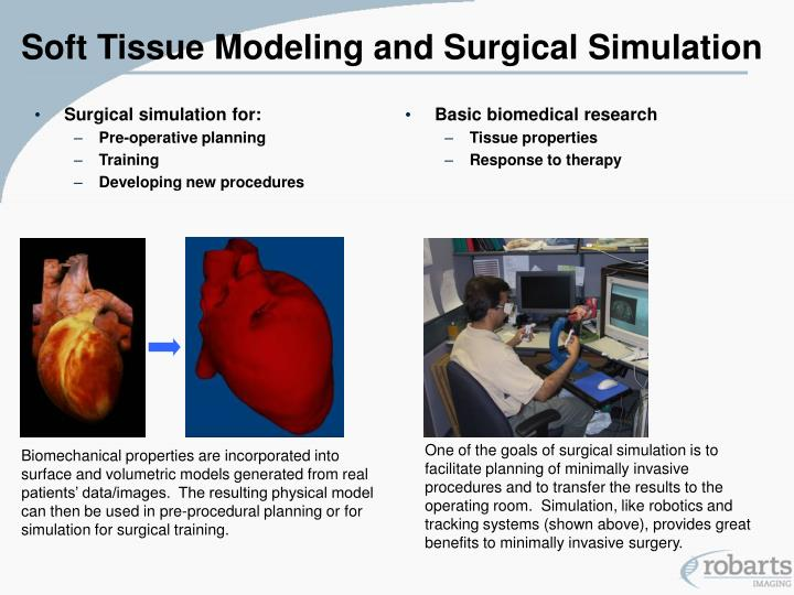 Soft tissue modeling and surgical simulation