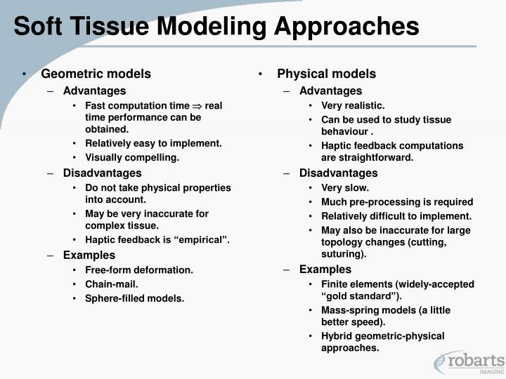 Soft tissue modeling approaches