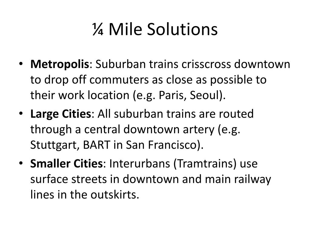 ¼ Mile Solutions