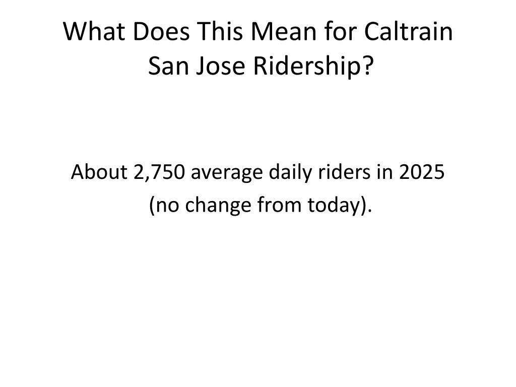 What Does This Mean for Caltrain