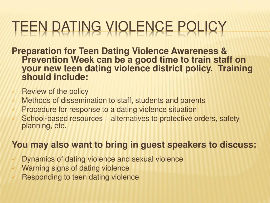 teenage dating violence and school laws
