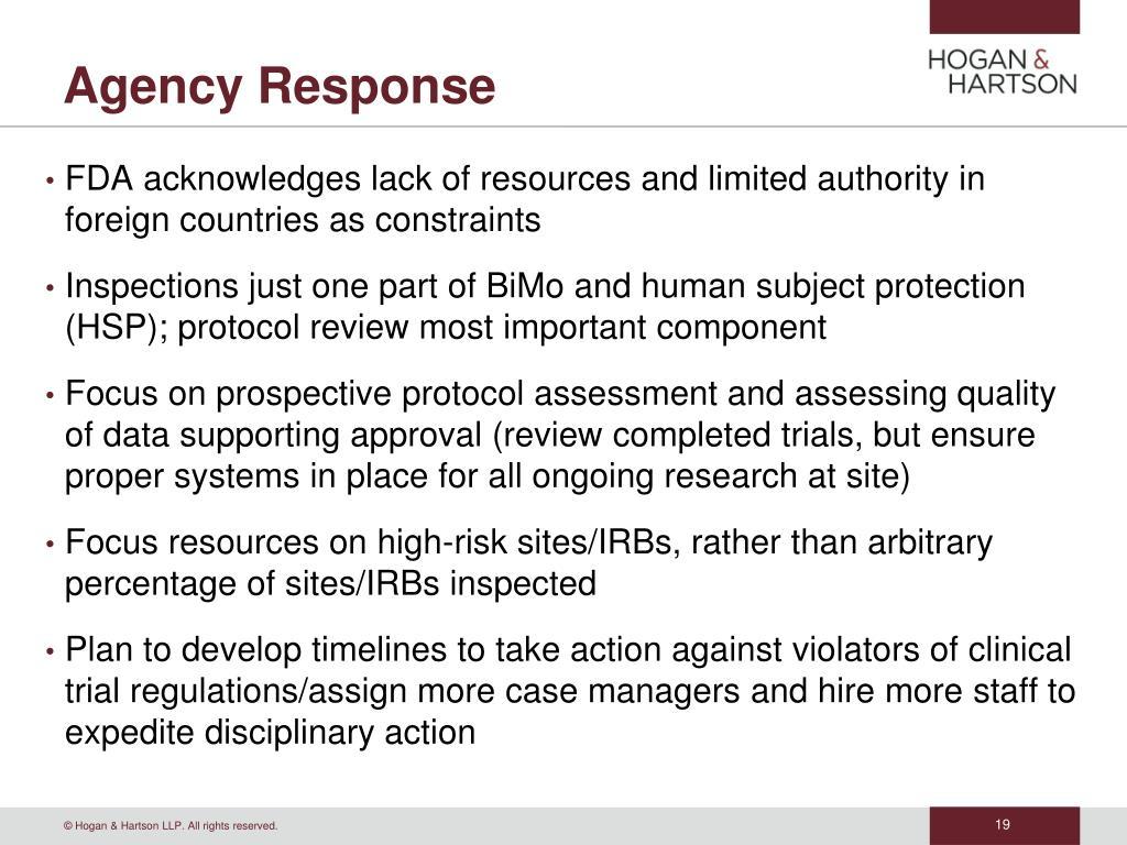 Agency Response