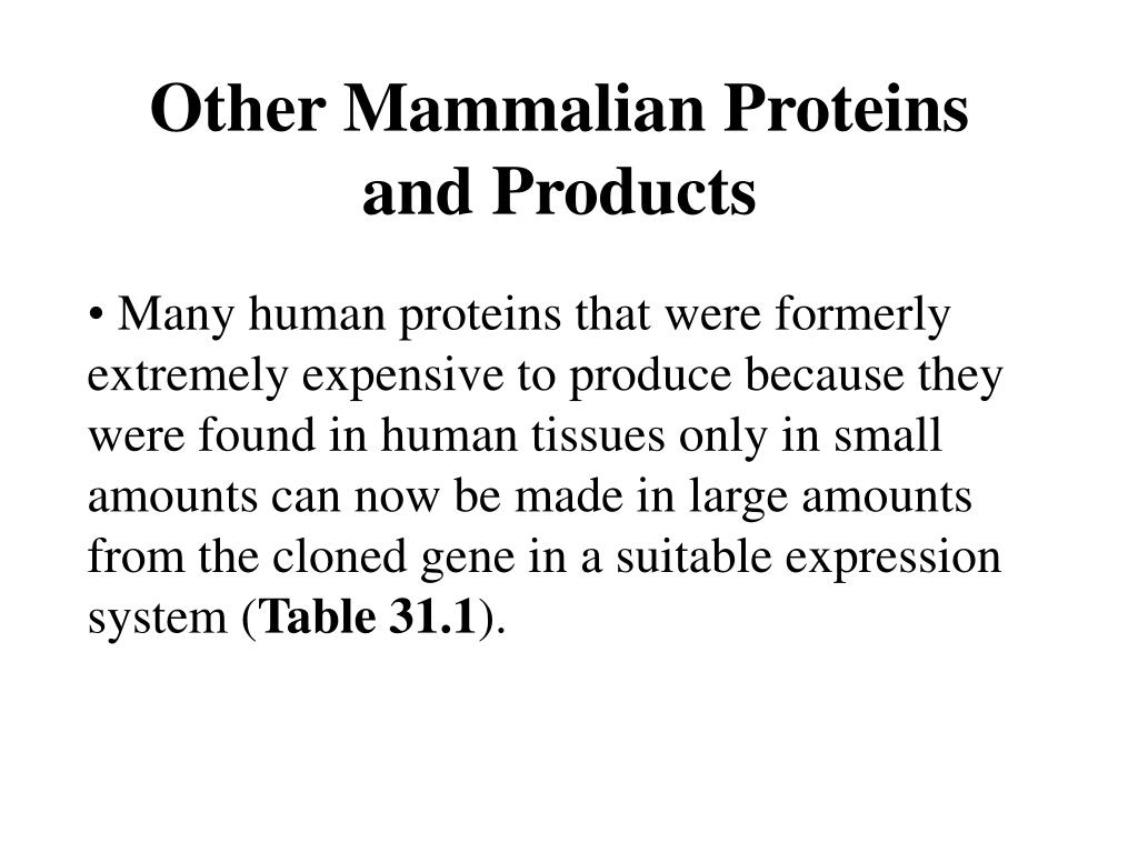 Other Mammalian Proteins and Products