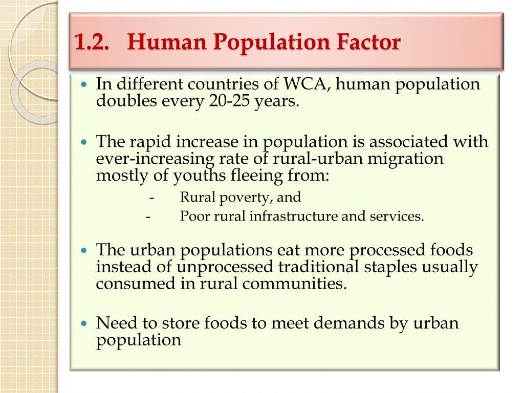 1.2.  Human Population Factor
