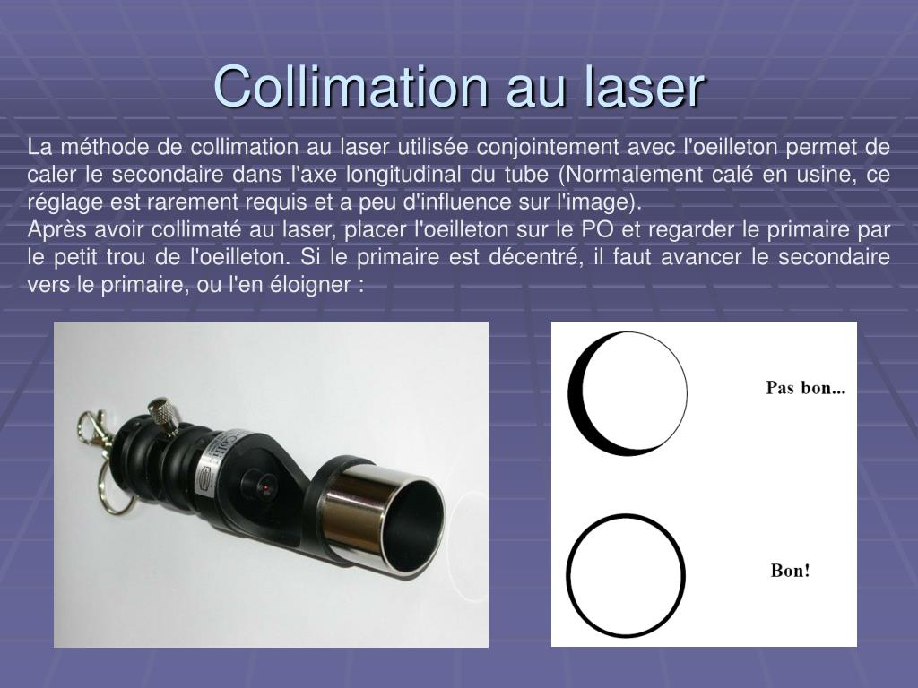 Collimation au laser