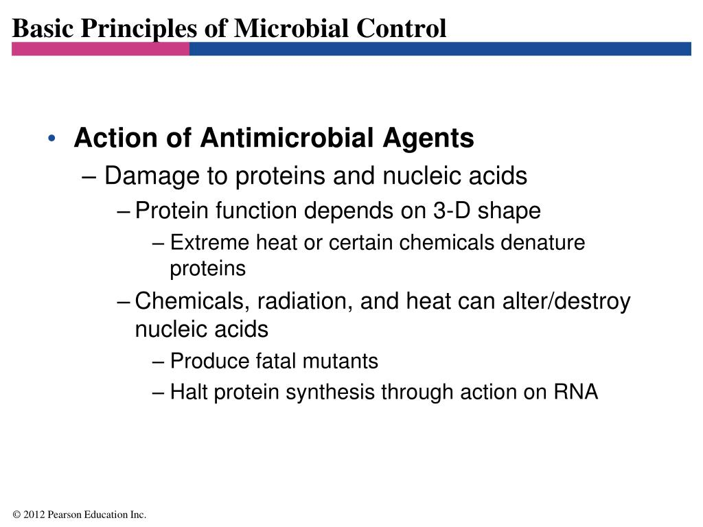 Basic Principles of Microbial Control
