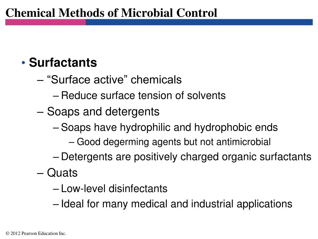 Chemical Methods of Microbial Control