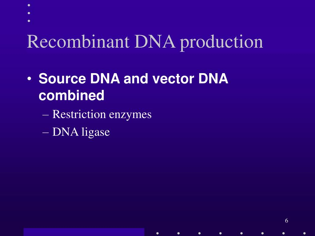 Recombinant DNA production