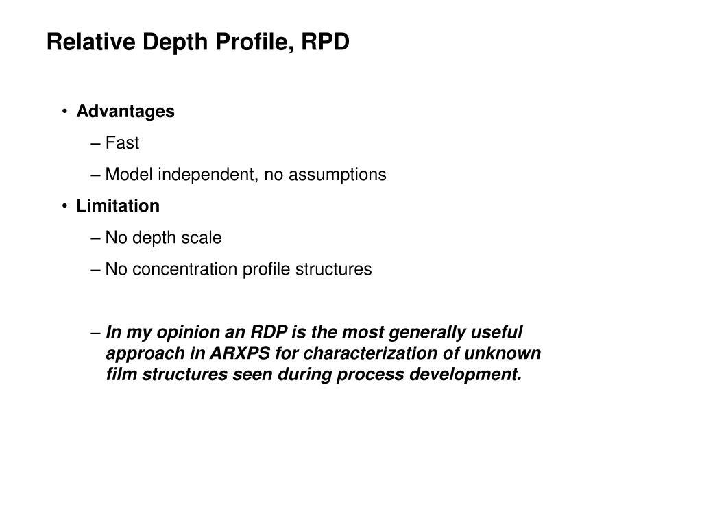Relative Depth Profile, RPD