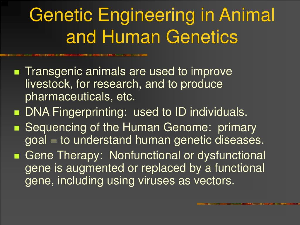 Genetic Engineering in Animal and Human Genetics