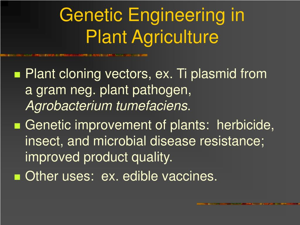 Genetic Engineering in