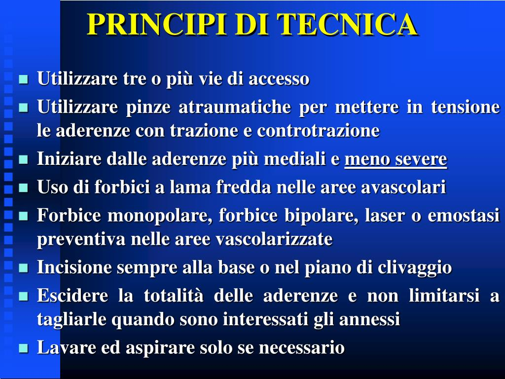 PRINCIPI DI TECNICA
