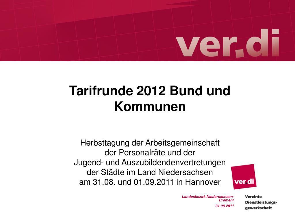Tarifrunde 2012 Bund und Kommunen