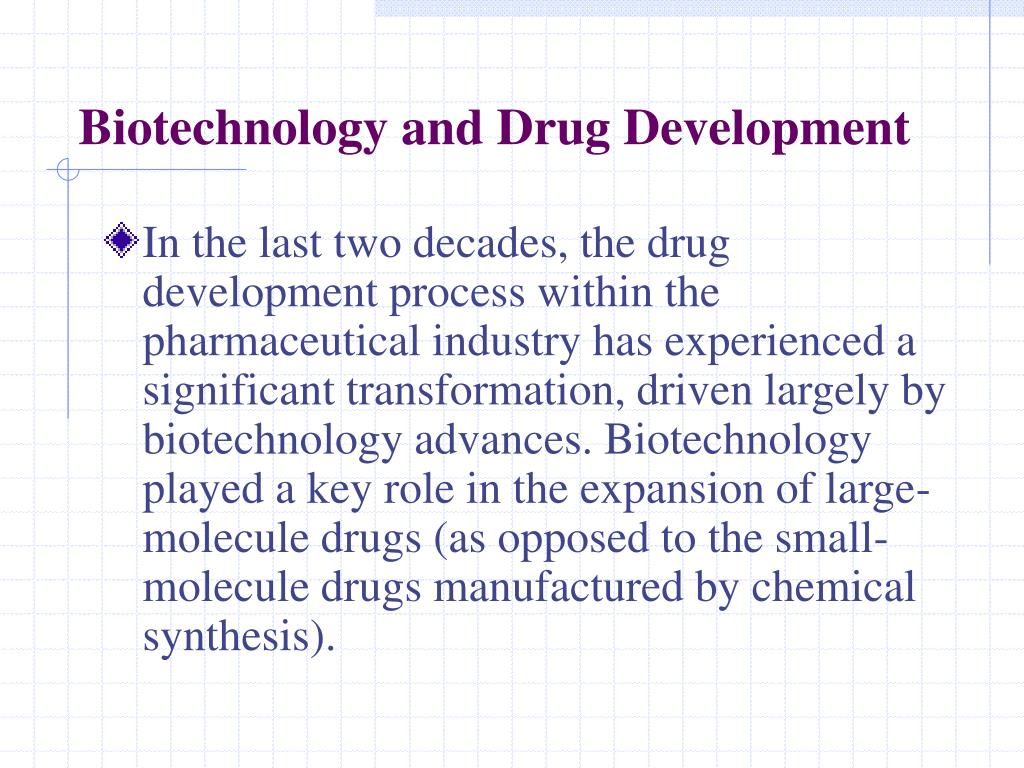 Biotechnology and Drug Development