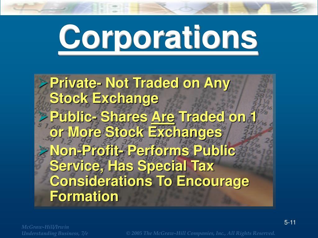 Corporations