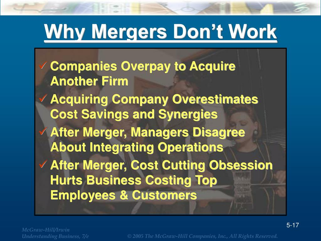 Why Mergers Don't Work
