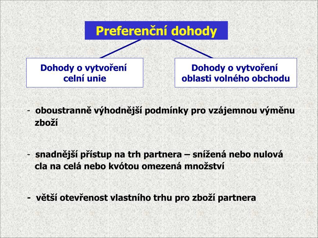 Preferenční dohody
