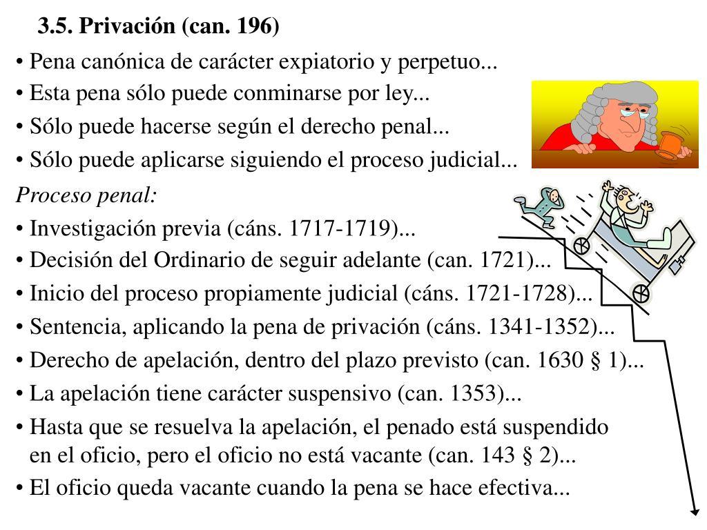 3.5. Privación (can. 196)