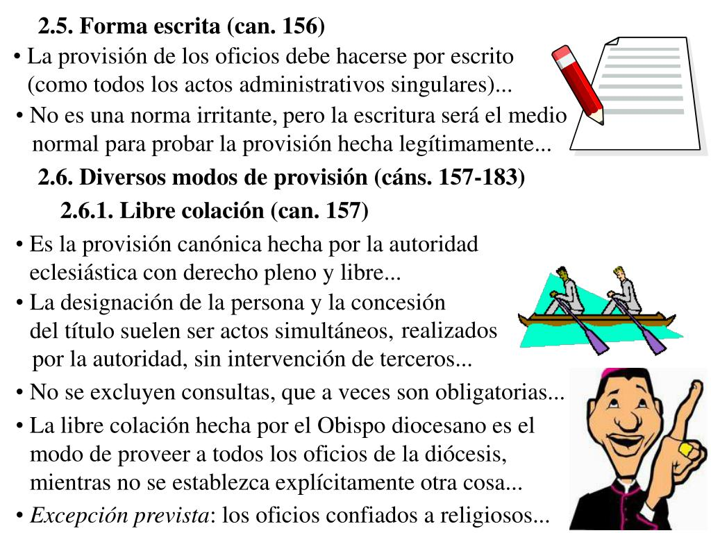 2.5. Forma escrita (can. 156)
