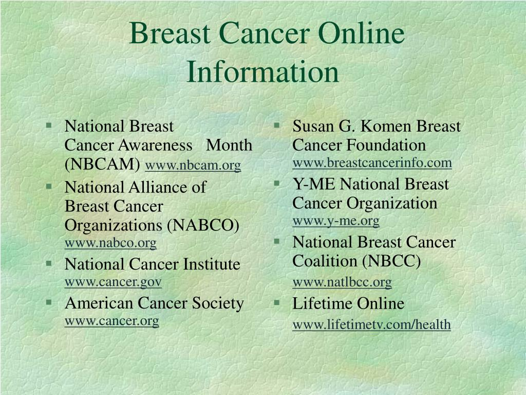 National Breast       Cancer Awareness   Month (NBCAM)