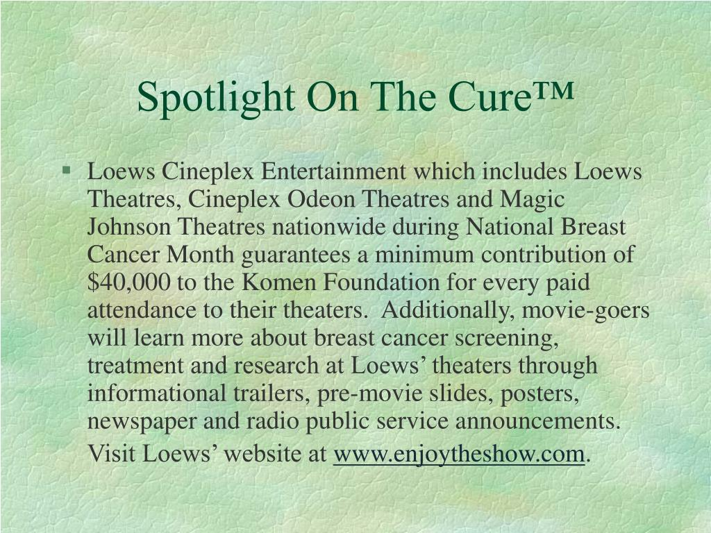 Spotlight On The Cure™