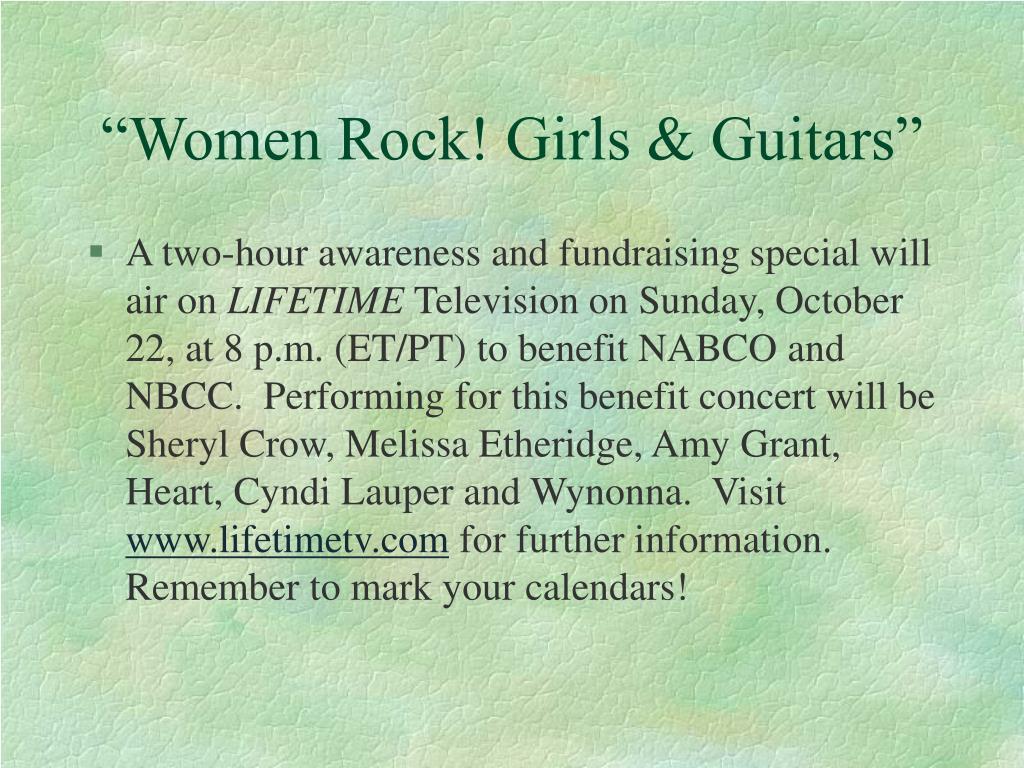 """""""Women Rock! Girls & Guitars"""""""