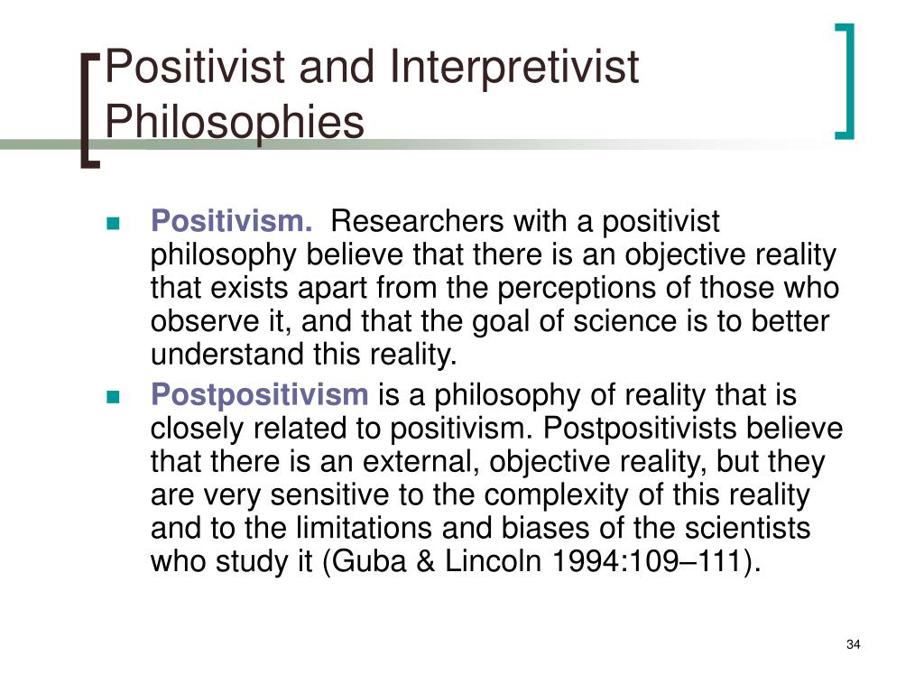 Positivist and Interpretivist Philosophies