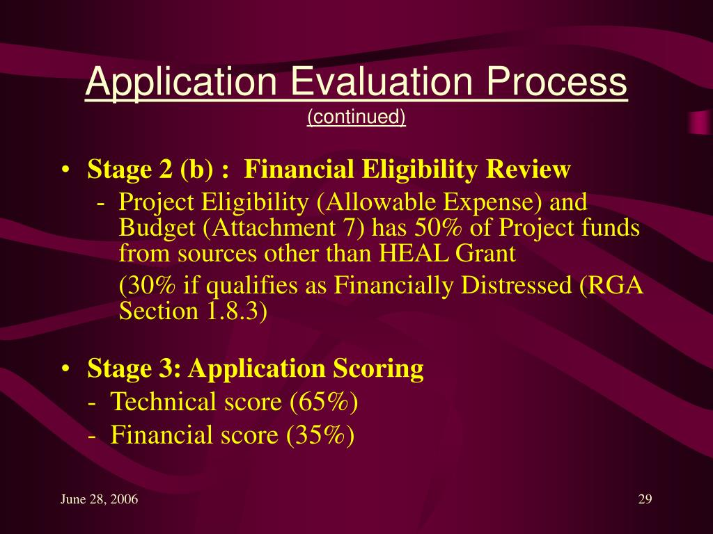 Application Evaluation Process
