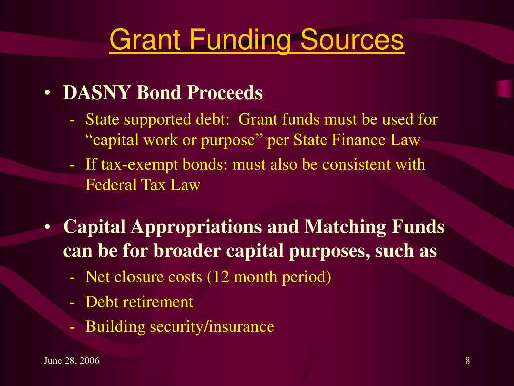 Grant Funding Sources