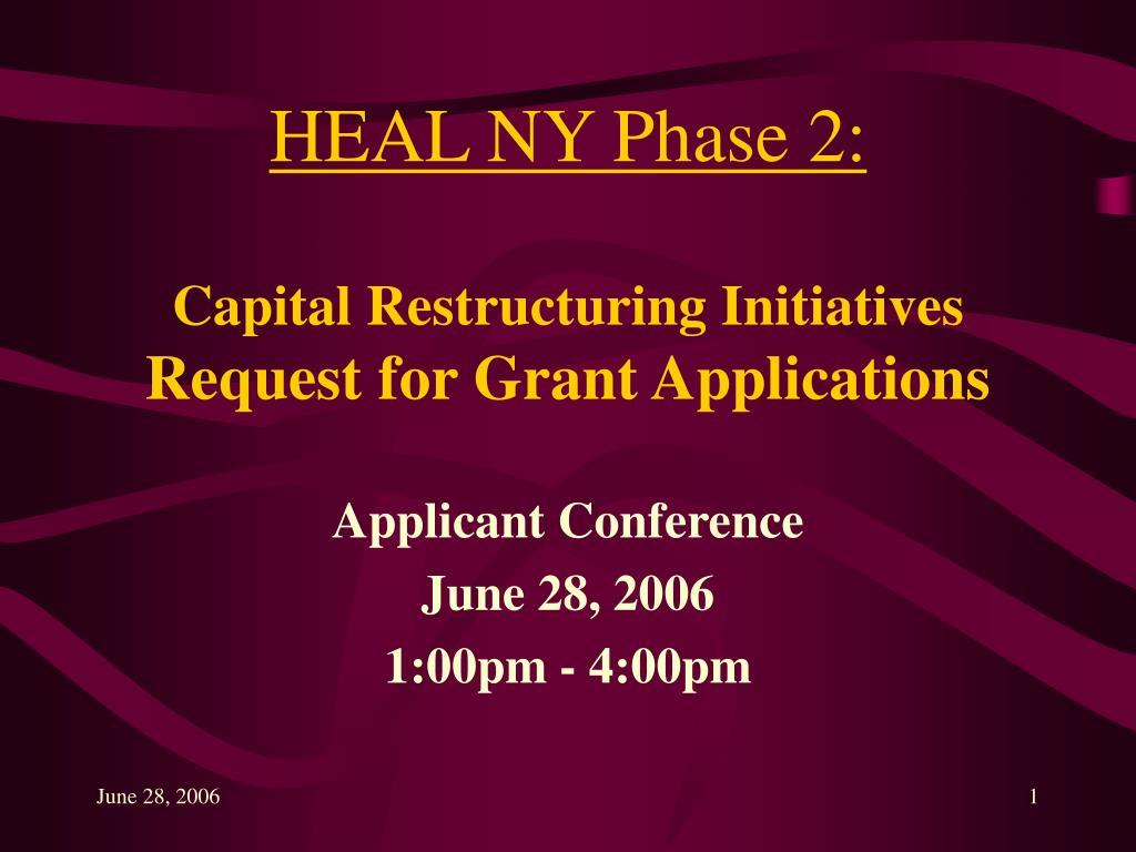 HEAL NY Phase 2: