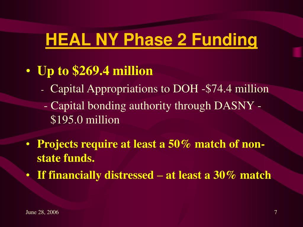 HEAL NY Phase 2 Funding